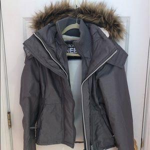Superdry Hooded Faux Fur Fleece Lined Coat